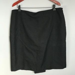 Ann Taylor - NWOT Black Skirt with Button Details